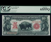 Fr. 114 1901 $10 Bison Legal Tender PCGS 65PPQ