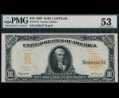 Fr. 1172 1907 $10 Gold Certificate PMG 53