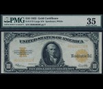 Fr. 1173 1922 $10 Gold Certificate PMG 35
