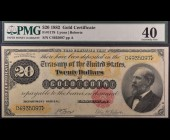 Fr. 1178 1882 $20 Gold Certificate  PMG 40