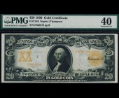 Fr. 1184 1906 $20 NAPIER / THOMPSON Gold Certificate PMG 40