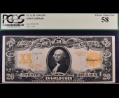 Fr. 1185 1906 $20 Gold Certificate PCGS 58