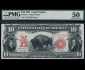 Fr. 120 1901 $10 Bison Legal Tender PMG 50