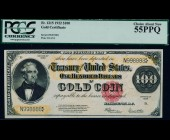 Fr. 1215 1922 $100 Gold Certificate PCGS 55PPQ