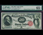 Fr. 142 1880 $20 Legal Tender PMG 65EPQ