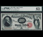 Fr. 147 1880 $20 Legal Tender PMG 63EPQ