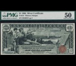 Fr. 224 1896 $1 Silver Certificate Educational PMG 50