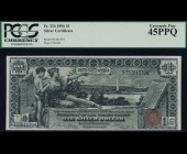 Fr. 224 1896 $1 Silver Certificate Educational PCGS 45PPQ