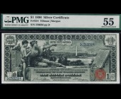 Fr. 224 1896 $1 Silver Certificate Educational PMG 55