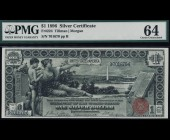 Fr. 224 1896 $1 Silver Certificate Educational PMG 64