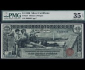 Fr. 224 1896 $1 Silver Certificate Educational PMG 35EPQ