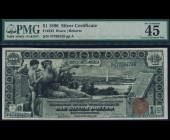 Fr. 225 1896 $1 Silver Certificate Educational PMG 45EPQ
