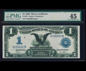 Fr. 231 1899 $1 Black Eagle NAPIER/THOMPSON Silver Certificate PMG 45