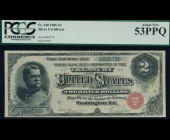 Fr. 240 1886 $2 Silver Certificate PCGS 53PPQ