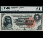 Fr. 242 1886 $2 Silver Certificate PMG 64