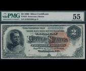 Fr. 243 1886 $2 Silver Certificate PMG 55