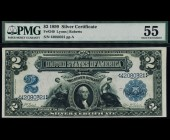 Fr. 249 1899 $2 MiniPorthole Silver Certificate PMG 55