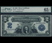 Fr. 251 1899 $2 MiniPorthole Silver Certificate PMG 65EPQ