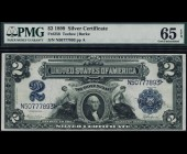 Fr. 256 1899 $2 MiniPorthole Silver Certificate PMG 65EPQ
