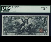 Fr. 268 1896 $5 Silver Certificate Educational PCGS 40