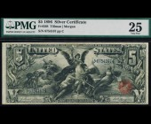Fr. 268 1896 $5 Silver Certificate Educational PMG 25