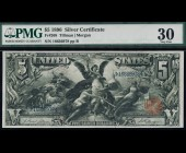 Fr. 268 1896 $5 Silver Certificate Educational PMG 30