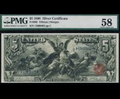 Fr. 268 1896 $5 Silver Certificate Educational PMG 58