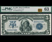 Fr. 272 1899 $5 Chief Silver Certificate PMG 63