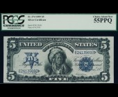Fr. 274 1899 $5 Chief Silver Certificate PCGS 55PPQ