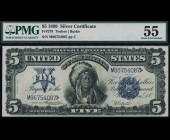 Fr. 278 1899 $5 Chief Silver Certificate PMG 55