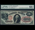 Fr. 27 1878 $1 Legal Tender PMG 64EPQ