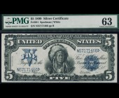 Fr. 281 1899 $5 Chief Silver Certificate PMG 63