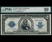 Fr. 282 1923 $5 Silver Certificate Porthole PMG 30