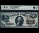 Fr. 29 1880 $1 Legal Tender PMG 64EPQ