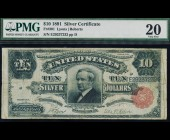 Fr. 301 1891 $10 Silver Certificate PMG 20
