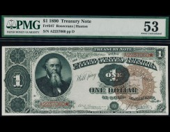 Fr. 347 1890 $1 Treasury Note PMG 53