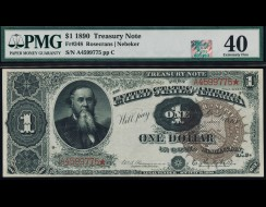 Fr. 348 1890 $1 Treasury Note PMG 40