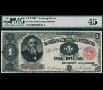Fr. 349 1890 $1 Treasury Note PMG 45