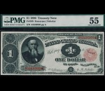 Fr. 349 1890 $1 Treasury Note PMG 55