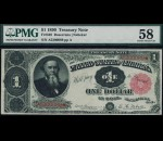 Fr. 349 1890 $1 Treasury Note PMG 58