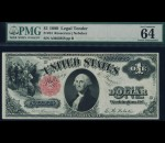 Fr. 34 1880 $1 Legal Tender PMG 64EPQ