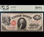 Fr. 36 1917 $1 Legal Tender PCGS 58PPQ