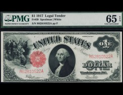 Fr. 39 1917 $1 Legal Tender PMG 65EPQ