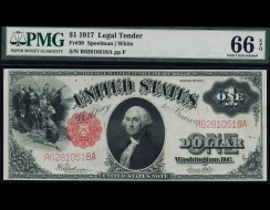 Fr. 39 1917 $1 Legal Tender PMG 66EPQ