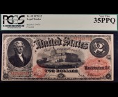 Fr. 48 1878 $2 Legal Tender PCGS 35PPQ