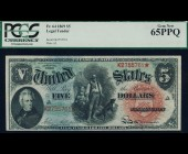 Fr. 64 1869 $5 Woodchopper Legal Tender PCGS 65PPQ