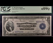 Fr. 708 1918 $1 FRBN Boston PCGS 65PPQ