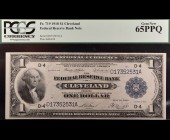 Fr. 719 1918 $1 FRBN Cleveland  PCGS 65PPQ