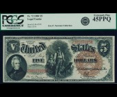 Fr. 72 1880 $5 Legal Tender PCGS 45PPQ