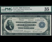 Fr. 761 1918 $2 FRBN Richmond Battleship  PMG 35